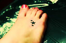 star foot tattoos a one most popular foot tattoo design