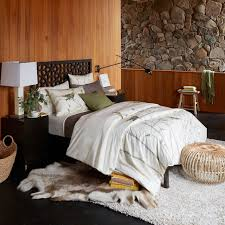 simple bed frame chocolate west elm
