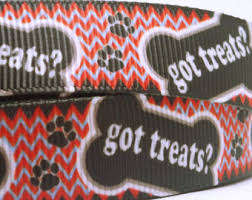 printed grosgrain ribbon dog grosgrain ribbon etsy