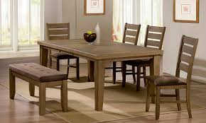 Kitchen Table With Bench Seating And Chairs - upholstered dining bench attractive seating u2014 home design ideas