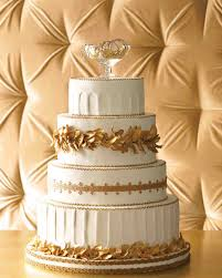 golden wedding cakes bejeweled wedding cakes martha stewart weddings