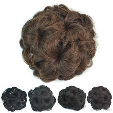 flower hair bun chignon hair bun flower hairstyle synthetichair bun chignon