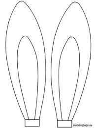 here is another bunny template found online cute bent ear why