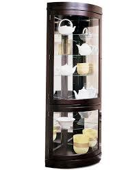 Contemporary Curved Corner Curio Cabinet Cabinet Furniture Corner