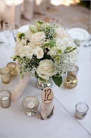 White Roses Centerpiece by Romantic Courtyard Wedding At The Villa San Juan Capistrano Rose