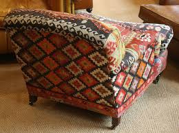 Kilim Armchair Turkish Kilim Lansdown Chair Kelim Rug Chair Turkish Rug Chair