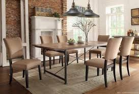 Brown Leather Chairs For Dining Charming Rustic Upholstered Dining Chairs Dark Brown Leather