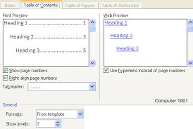 membuat daftar isi table of contents di word 2007 membuat daftar isi table of contents di word computer 1001