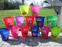 personalized buckets de la design more personalized sand pail with shovel