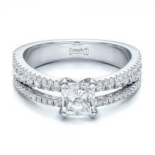 flat engagement rings custom split shank diamond engagement ring 100774