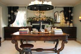 hanging ornaments dining room traditional with gift wrapping