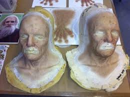 bgfx barrie sculpted old age prosthetics for actress katie mcgrath as old morgana hilda the silicone makeup consisting of and hand appliances