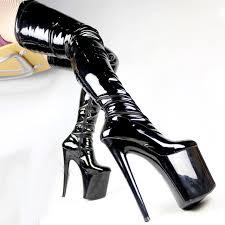 womens boots size 12 20cm high heels thigh high boots platforms