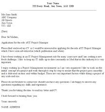 luxury it project manager cover letter examples 52 on technical