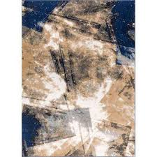 Outer Space Rug 4 X 6 Blue Abstract Area Rugs Rugs The Home Depot