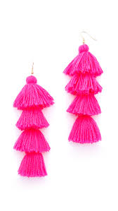 pink earrings misa solid tassel earrings shopbop
