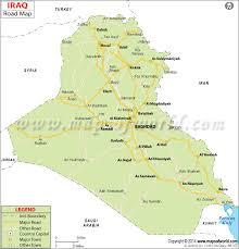 map of irak road map