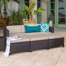 zuom 703603 zuo majorca outdoor daybed brown and beige ebay