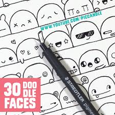 how to draw doodle faces 30 faces expressions to doodle by piccandle on deviantart
