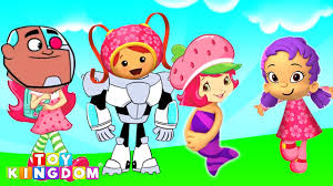 wrong heads bubble guppies team umizoomi teen titans go strawberry