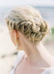 Hochsteckfrisurenen F Mittellange Haar Hochzeit by Braided Crown Hochzeit Frisuren Für Langes Haar 1111614 Weddbook