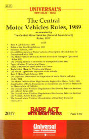 lexisnexis vehicle registration universal the central motor vehicles rules 1989 bare act with