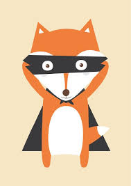chambres d h es dr e poster petit renard illustration pour chambre par albertpapeterie