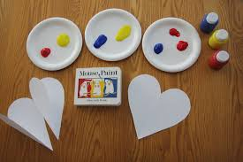 toddler approved surprise color mixing heart craft for preschoolers