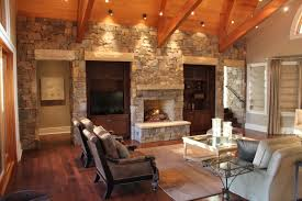 interior design stone wall with natural brown stone tile texture