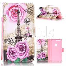 Eiffel Tower Accessories Rose Eiffel Tower Leather Wallet Phone Case For Google Pixel