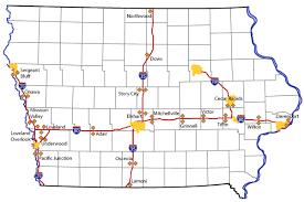 map of iowa office of maintenance iowa department of transportation