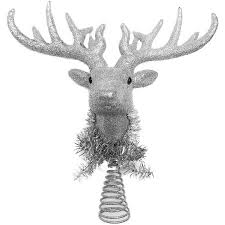 time ornaments 12 glitter deer with tinsel