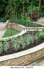 Vegetable Beds Cottage Vegetable Garden With Small Raised Beds And Brick Paved