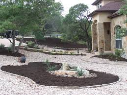 garden ideas black landscaping stones ideas how to realize the