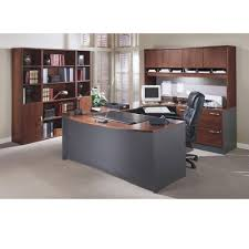 u shaped desks bush src001hcsu series c corsa l shaped desk hansen cherry