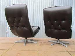 Antique Leather Swivel Chair Vintage Leather Eames Time Life Chair 2 Retro Leather Office Chair