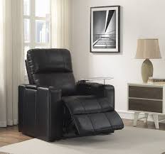 Leather Black Living Room Swivel Chair Furniture Attractive Swivel Recliner Chairs For Placed Modern