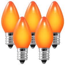 5 watt light bulbs c7 opaque orange replacement bulb 5 watt
