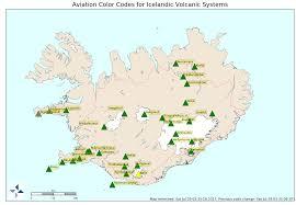 Yellow River Map Katla Volcano Alert Level Has Been Raised To Yellow In Iceland