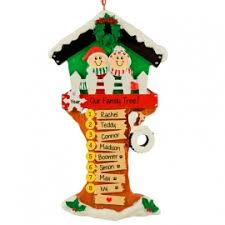 our family tree 8 names ornament personalized ornaments for you