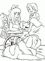 heidi coloring pages