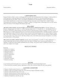 exles of simple resumes sle resumes templates resume exle1 yralaska