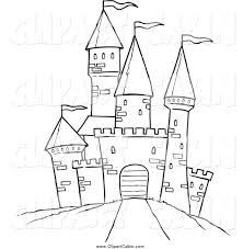 castle clipart drawing pencil color castle clipart