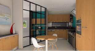 cuisine fermee aménagement d un espace bureau et une cuisine fermée par une