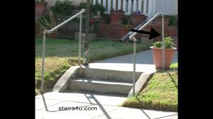 Metal Stair Banister The Cheapest Exterior Stair Handrail Money Saving Ideas Youtube