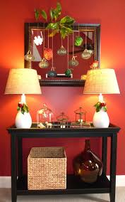 Entry Table Decor by Simple Christmas Vignette Our Fifth House