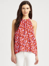 sleeveless blouses lyst splendid floral sleeveless blouse