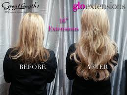 great length extensions great lengths hair extensions before and after by glo extensions
