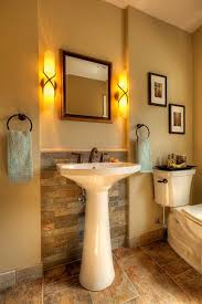 Bathroom Pedestal Sink Ideas Half Bathroom Design Top Narrow Half Bathroom Design With Half
