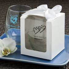 wine glass party favor 50 birthday party favors stemless wine glass
